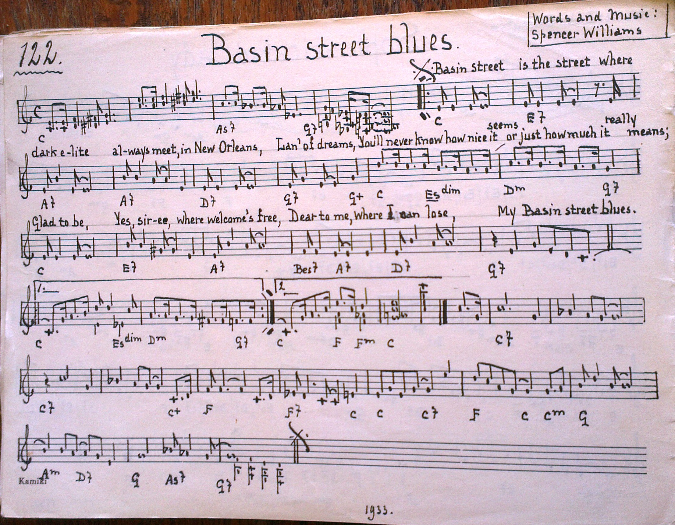Basin Street Blues (1933)