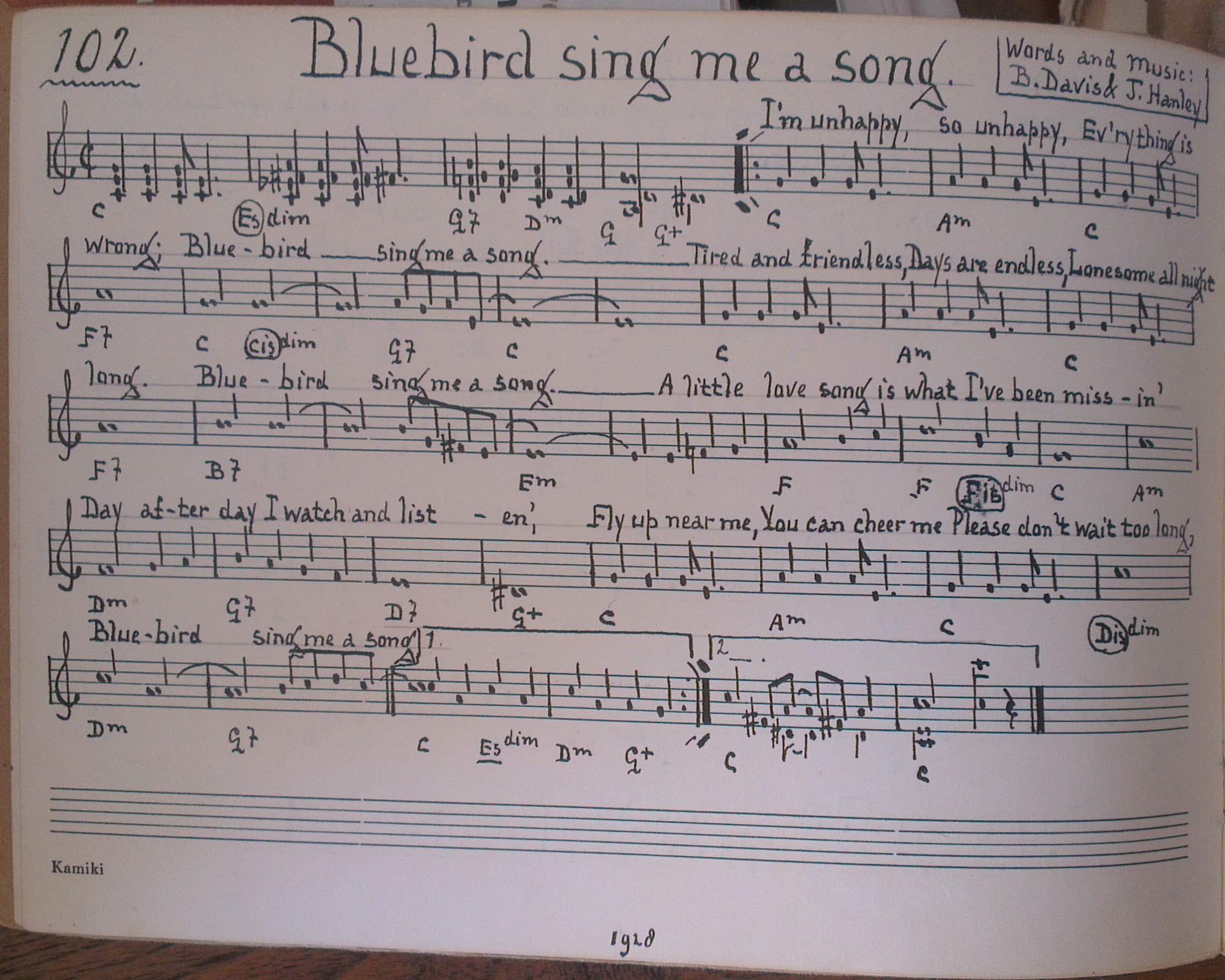 Blue bird sing me a song - 1928